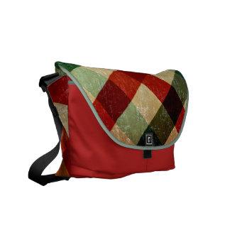 vintage tartan messenger bag