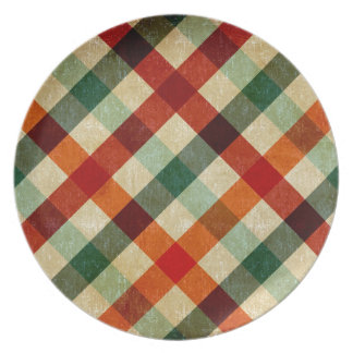 vintage tartan plate