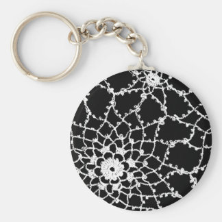 Vintage Tatted Lace Keychain