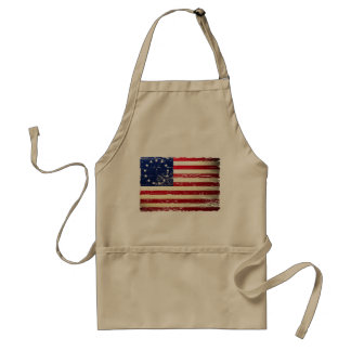 Vintage Tattered Betsy Ross American Flag Apron