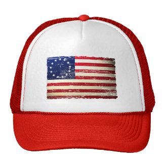 Vintage Tattered Betsy Ross American Flag Hat