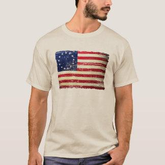 Vintage Tattered Betsy Ross American Flag T-shirt