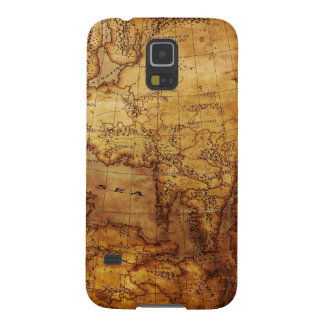 Vintage Tattered Map Case For Galaxy S5
