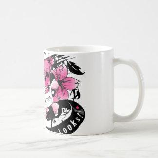 vintage tatto print cup taza de café