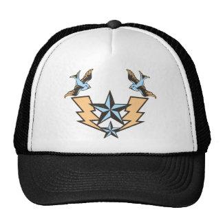 Vintage Tattoo Bird s and Lightning Graphic Trucker Hat