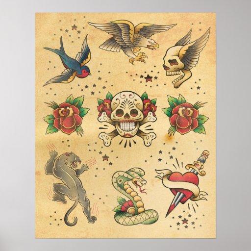 Vintage Tattoo Poster 23