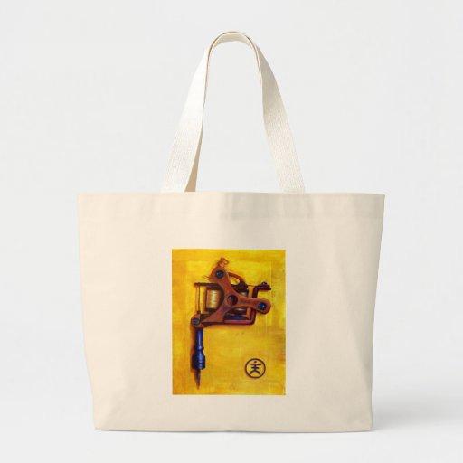 Vintage Tattoo Machine (Yellow) Tote Bag