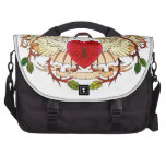 vintage tattoo of a winged heart bag for laptop