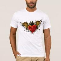 Vintage Tattoo Winged Heart  Shirt