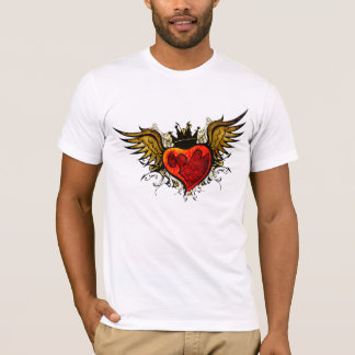 Vintage Tattoo Winged Heart  Shirt