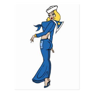 Vintage Tattoo Woman Sailor Post Cards