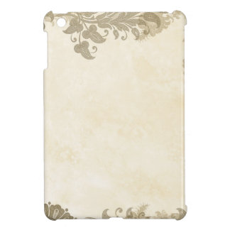 Vintage Taupe Lace Border on Blush Case For The iPad Mini