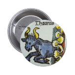 Vintage Taurus Bull, Antique Signs of the Zodiac Pinback Button
