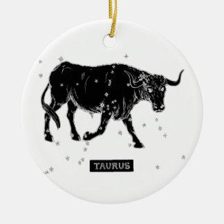 Vintage Taurus Ceramic Ornament