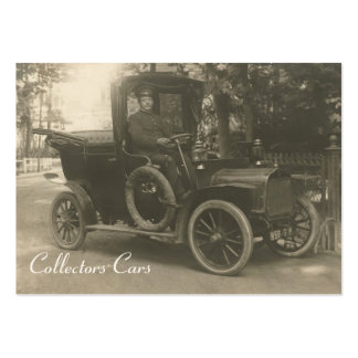 Vintage taxi cab business card