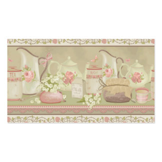 Vintage Tea Anitque Double-Sided Standard Business Cards (Pack Of 100)