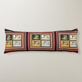 Vintage Tea Cup Altered Art Collage Body Pillow