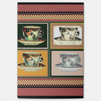 Vintage Tea Cup Altered Art Collage Post-it® Notes