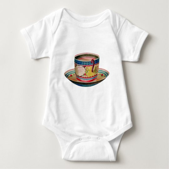 Vintage Tea Cup Baby Bodysuit