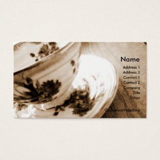 Vintage Tea Cup Business/Profile Card
