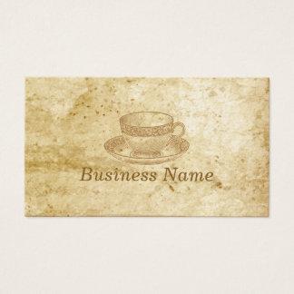 Vintage Tea Cup Coffee Business Card