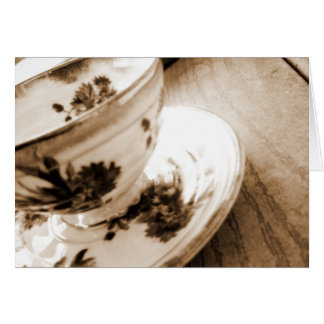 Vintage Tea Cup Greeting Card