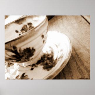 Vintage Tea Cup Poster