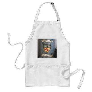 vintage tea jar coat of arms london adult apron