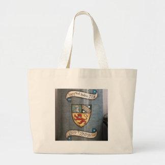 vintage tea jar coat of arms london large tote bag