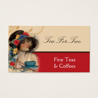 Vintage Tea or Coffee Business Card