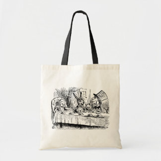 Vintage Tea Party Alice Hatter and March Hare Canvas Bag