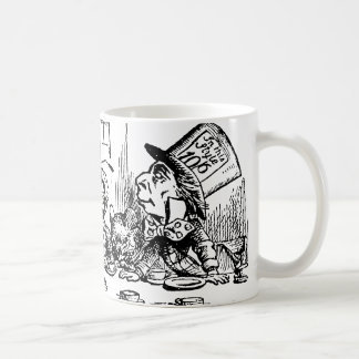 Vintage Tea Party; Alice, Hatter and March Hare Coffee Mugs