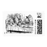 Vintage Tea Party; Alice, Hatter and March Hare Stamp