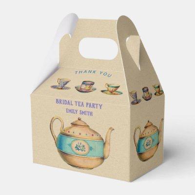 Vintage TEA PARTY Gable Box Personalized