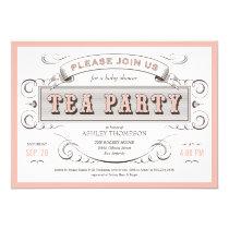 """Vintage Tea Party Invitations 5"""" X 7"""" Invitation Card"""