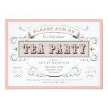 Vintage Tea Party Invitations