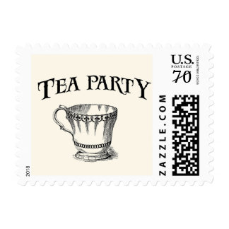 Vintage Tea Party Stamp
