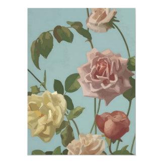 Vintage Tea Rose and Blush Roses Card