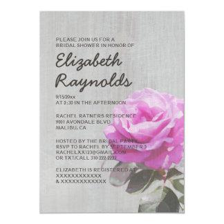 Vintage Tea Rose Bridal Shower Invitations Custom Invitations
