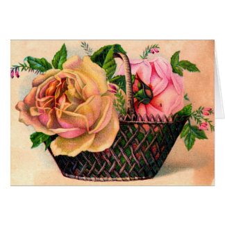 Vintage Tea Rose Mothers Day Card