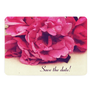 vintage tea roses  - Save the Date Card