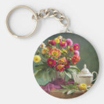 Vintage Tea Time Key Chain