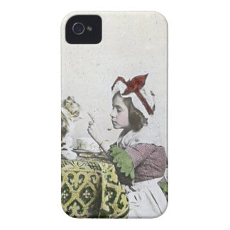 Vintage Tea Time Party With Naughty Kitty Case-Mate iPhone 4 Case
