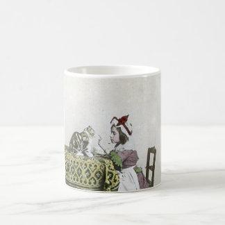 Vintage Tea Time Party With Naughty Kitty Coffee Mug