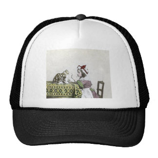 Vintage Tea Time Party With Naughty Kitty Trucker Hat