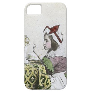 Vintage Tea Time Party With Naughty Kitty iPhone SE/5/5s Case