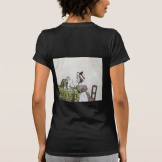 Vintage Tea Time Party With Naughty Kitty T-shirt