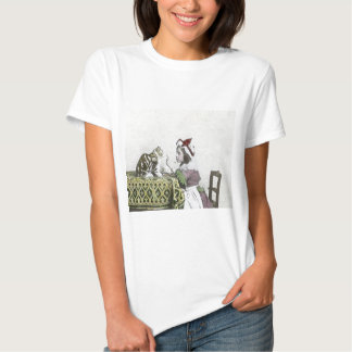 Vintage Tea Time Party With Naughty Kitty T Shirt