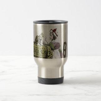 Vintage Tea Time Party With Naughty Kitty Travel Mug
