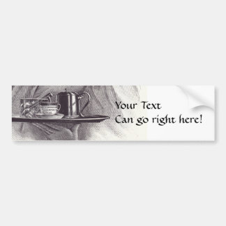 Vintage Tea Tray Bumper Sticker